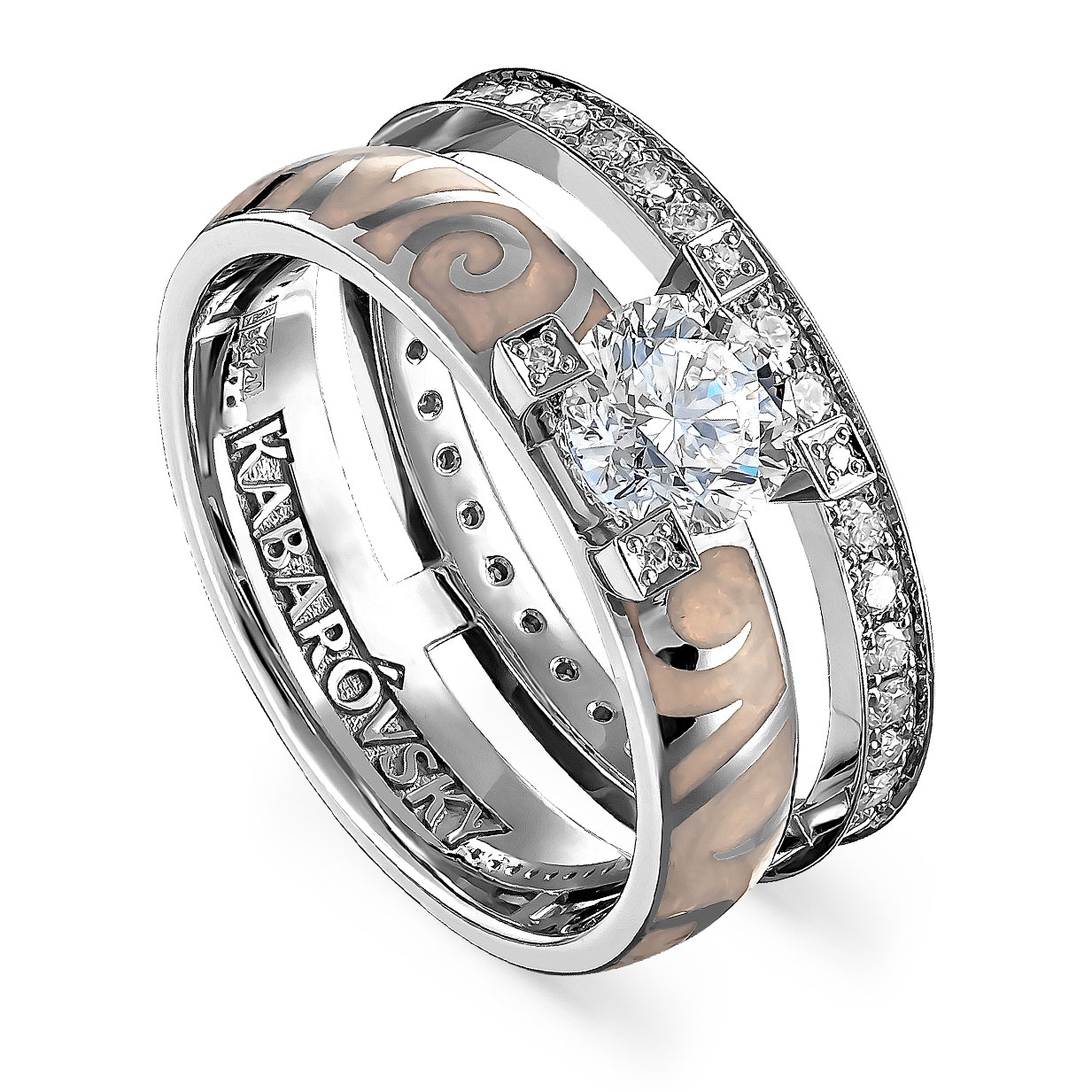 Кольцо из белого золота