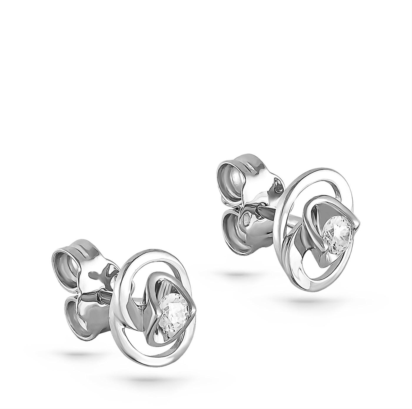 Пусеты из серебра